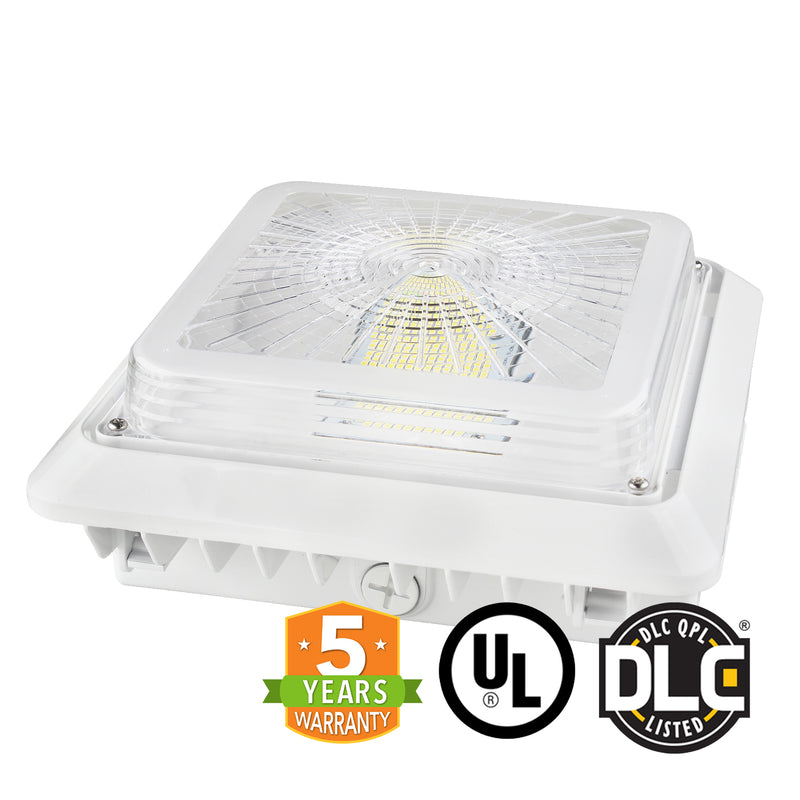 LED Canopy Light - 40W Outdoor Parking Garage Light - (UL+DLC Listed) - Green Light Depot