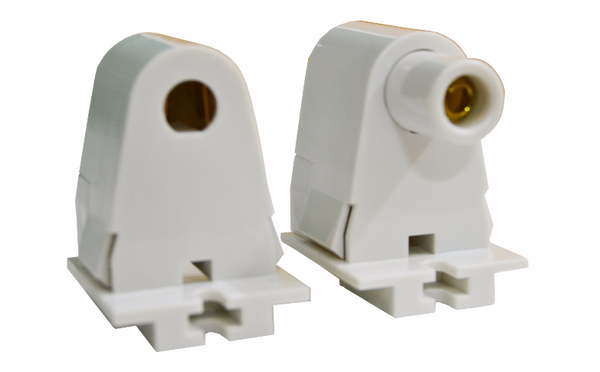 Pair Of Tombstone Sockets For Fa8 8ft Tube Lights Green