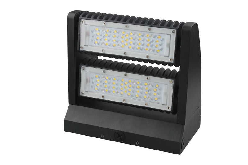 LED Rotatable Wall Pack - 80W - 5000K - (UL+DLC) - Green Light Depot