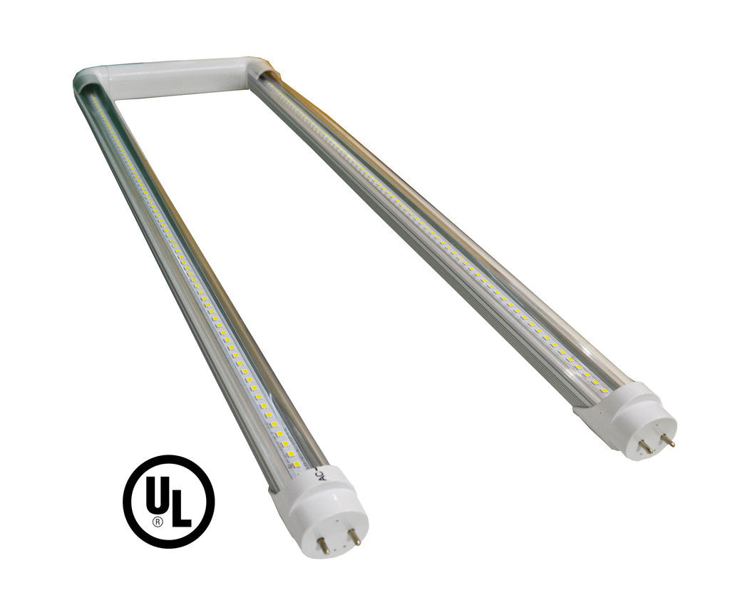 15W Ubend LED Tube - Clear - (UL) - Green Light Depot