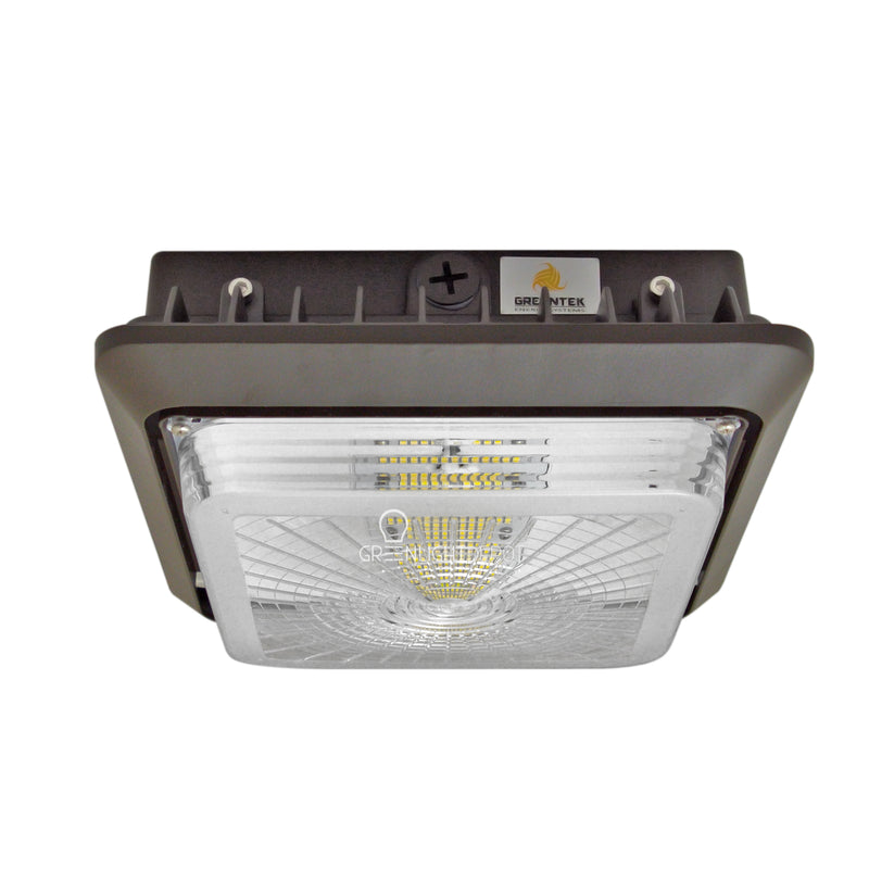 LED Canopy Light - 55W Outdoor Parking Garage Light - Brown - (UL+DLC Listed)