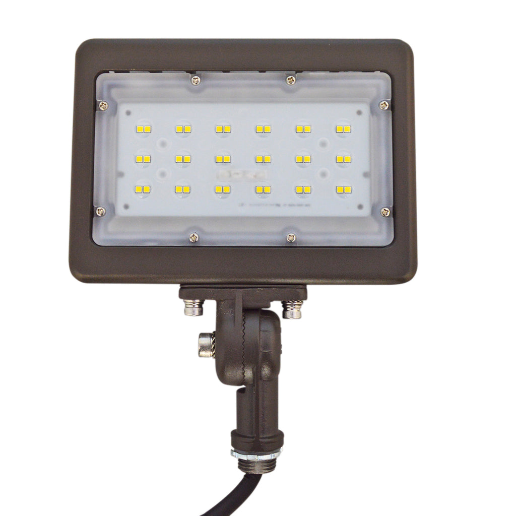 LED Flood Light - 30W - Knuckle Mount - Landscape Light - (UL+DLC) - 5 Year Warranty - Green Light Depot
