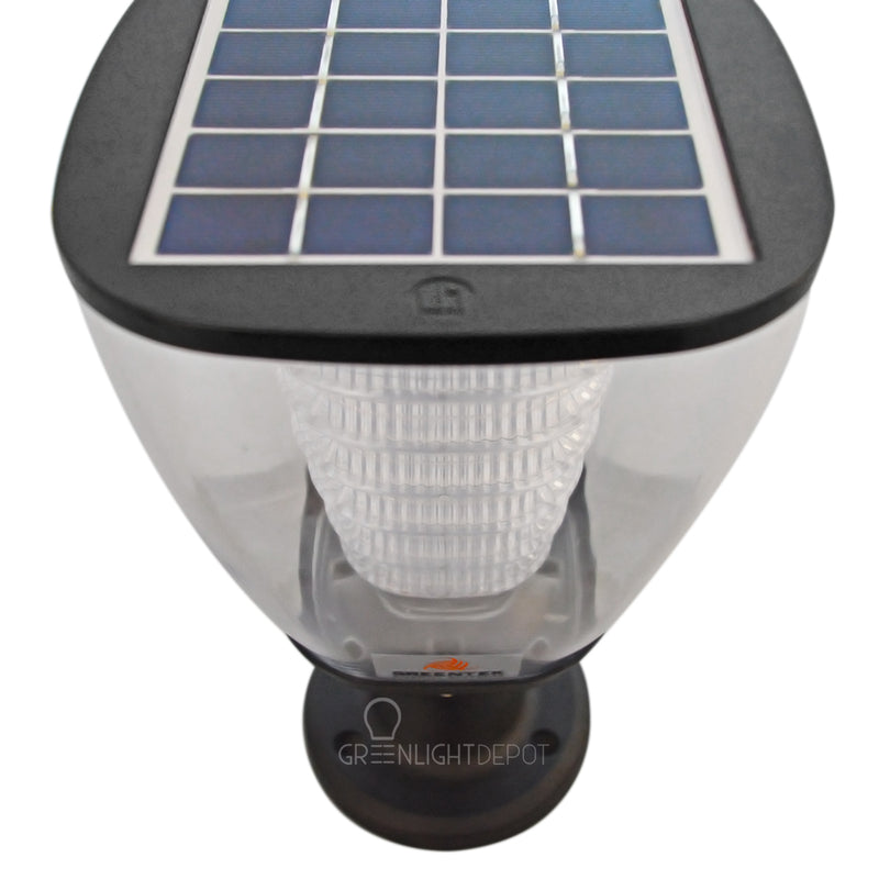 Solar LED Post Top - LED Street Light - 100Lm - Green Light Depot