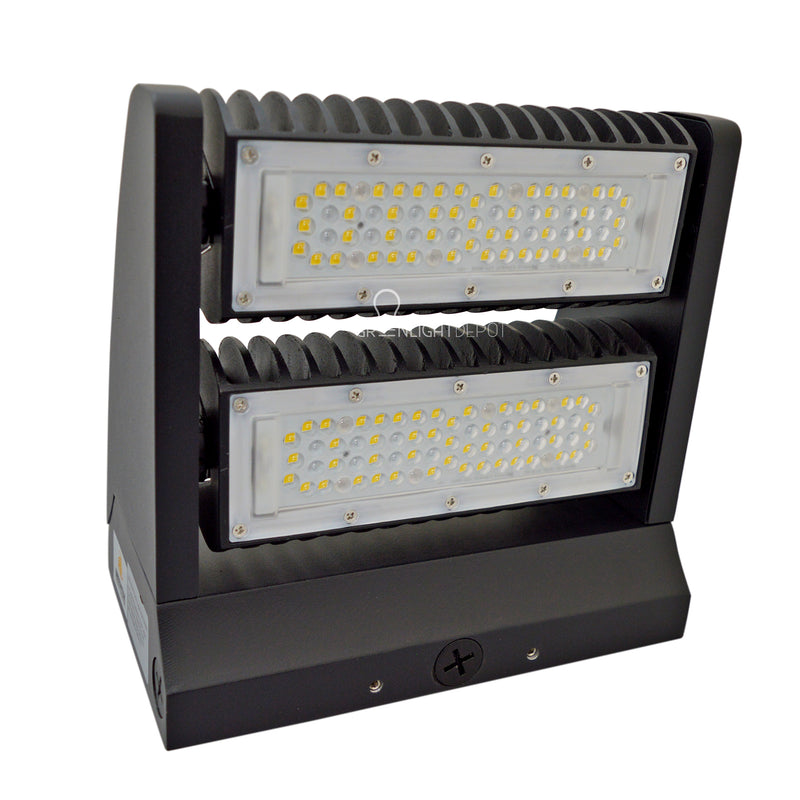 LED Rotatable Wall Pack - 80W - (UL+DLC)