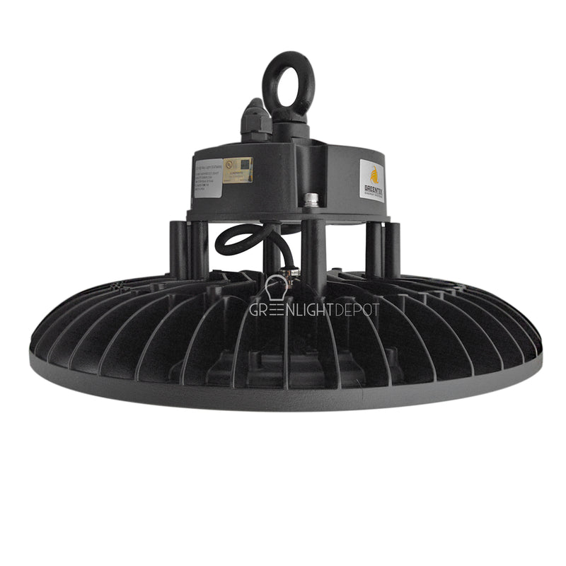 LED High Bay - 240W - 34,800 Lumens - 200V to 480V - Hook Mount - Tempered Glass - UFO Series - UL+DLC