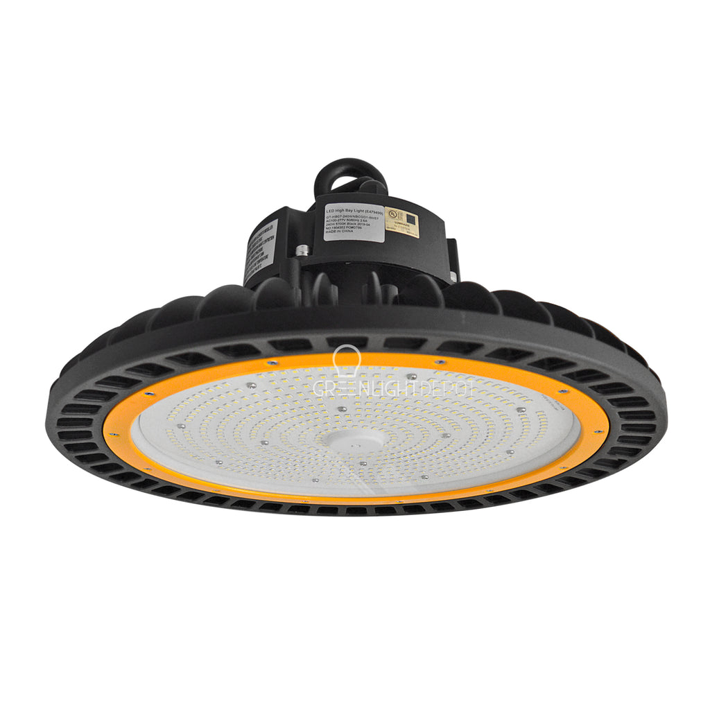 LED UFO High Bay - 240W - Hook Mount - Tempered Glass - (UL+DLC)