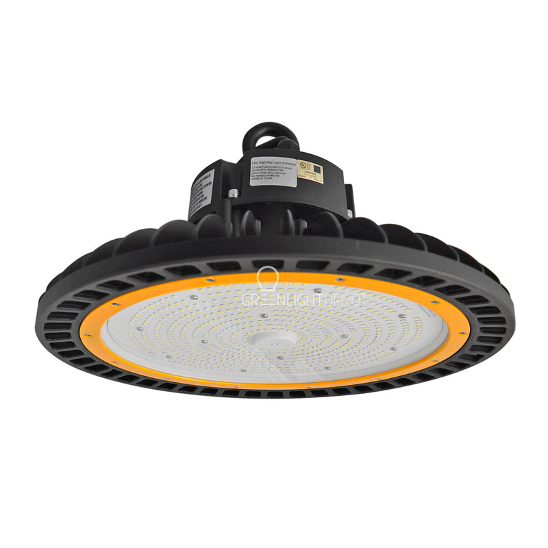 LED High Bay - 240W - 34,800 Lumens - Hook Mount - Tempered Glass - UFO Series - UL+DLC