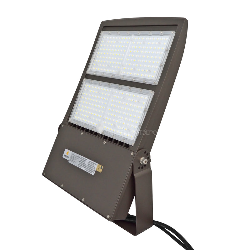 LED Flood Light - 300W - Flood Mount - DLC Listed - 5 Year Warranty - 5700K - With Photocell Capability - Green Light Depot