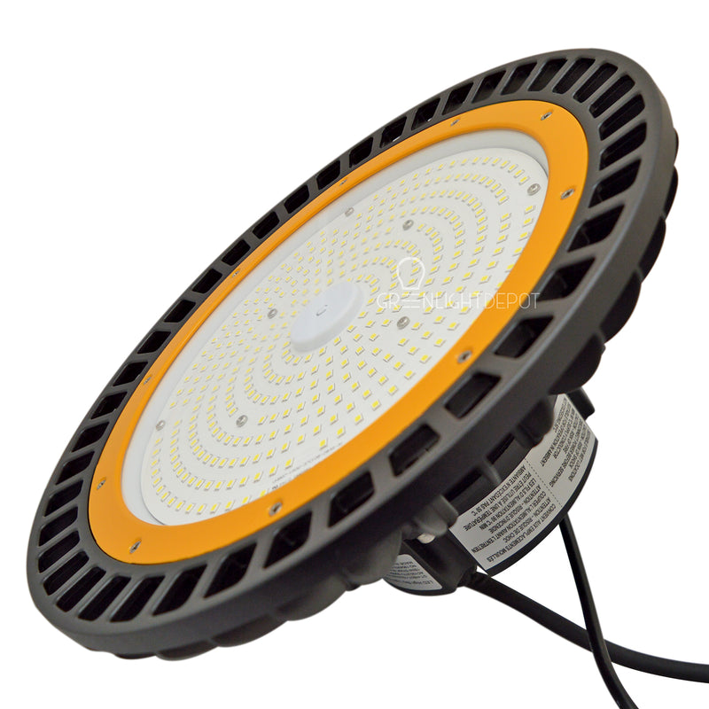 LED High Bay - 150W - 21,750 Lumens - Hook Mount - Tempered Glass - UFO Series - UL+DLC