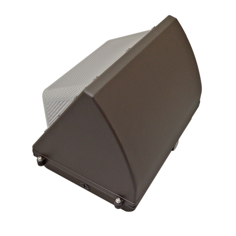 55W LED Wall Pack Light - Photocell Included - Semi Cutoff - Forward Throw - DLC Listed
