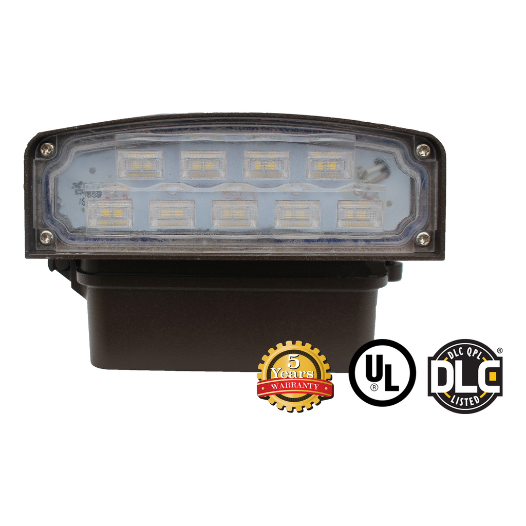 12W LED Wall Pack Light - WPK Series - Dark Sky (UL + DLC)
