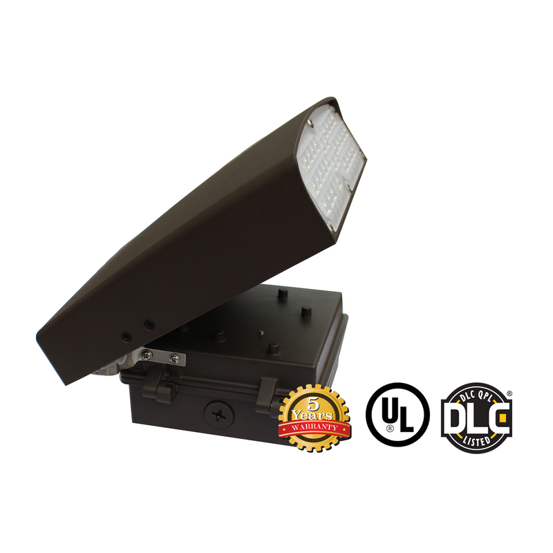 50W LED Wall Pack Light - WPK Series - Dark Sky (UL + DLC) - Green Light Depot