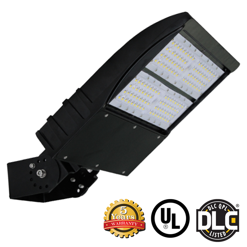 LED Flood Light, 150W, Outdoor LED Luminaire Yoke Mount, DLC Listed, 5 Year Warranty
