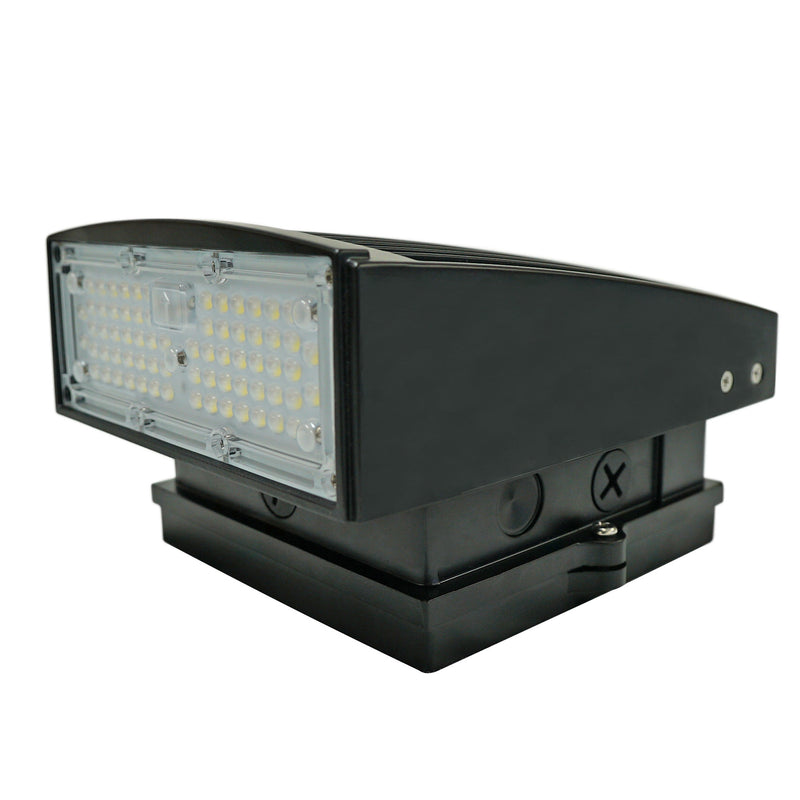 55W LED Wall Pack Dark Sky - WP05 Series - PMMA Optical Lens - 5700K - (UL + DLC) - Green Light Depot