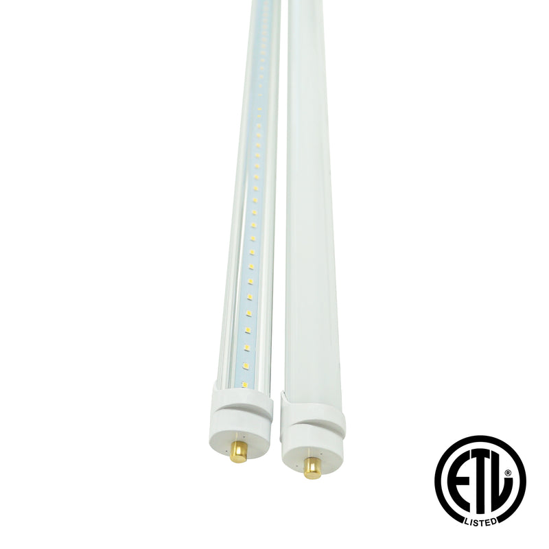 8ft 40W LED Linear Tube - Fa8 Socket - Bypass - (ETL) - 6000K - Green Light Depot
