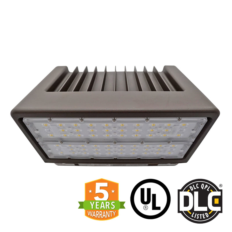 100W LED Wall Pack Light - 13190 Lumens - 320W Equivalent - Full Cutoff - DLC Listed - Green Light Depot
