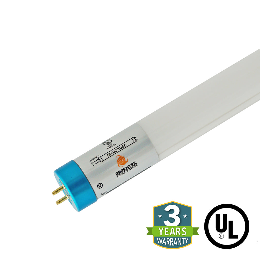 4ft 18W LED Linear Tube - Glass - Single End Bypass - Ballast Bypass - (UL Type B) - Green Light Depot