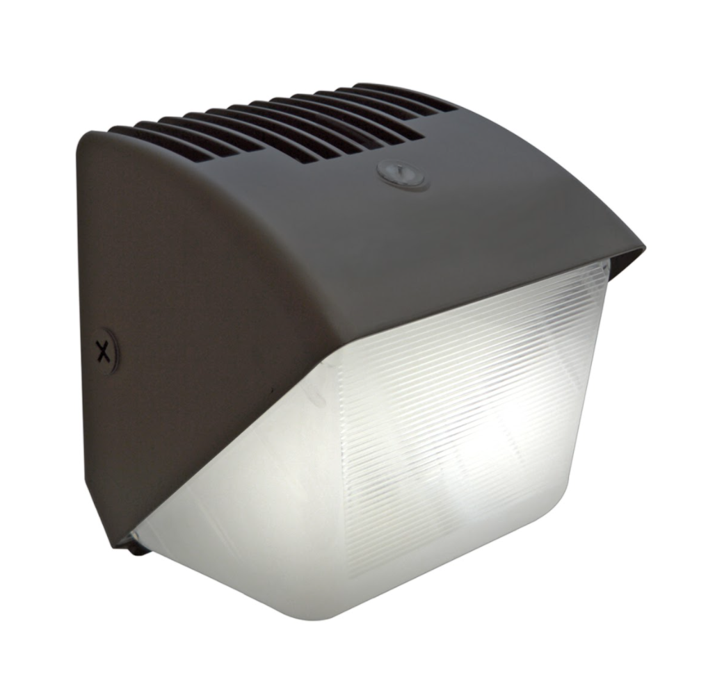 60W LED Wall Pack Light - Photocell Included - Forward Throw - DLC Listed