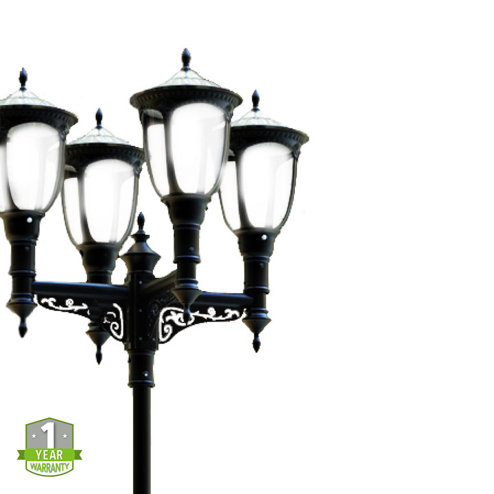 Solar LED Post Top - LED Street Light - 2000Lm - Green Light Depot