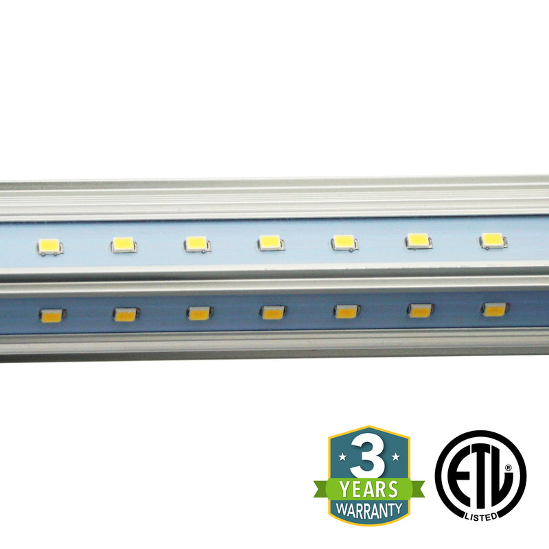 60W 8ft V-Shaped T8 Integrated LED Tube - Clear - Green Light Depot