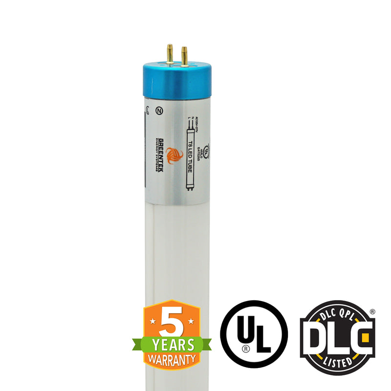 4ft 18W LED Linear Tube - Glass - Ballast Compatible & Single End Bypass - (UL+DLC) - Green Light Depot