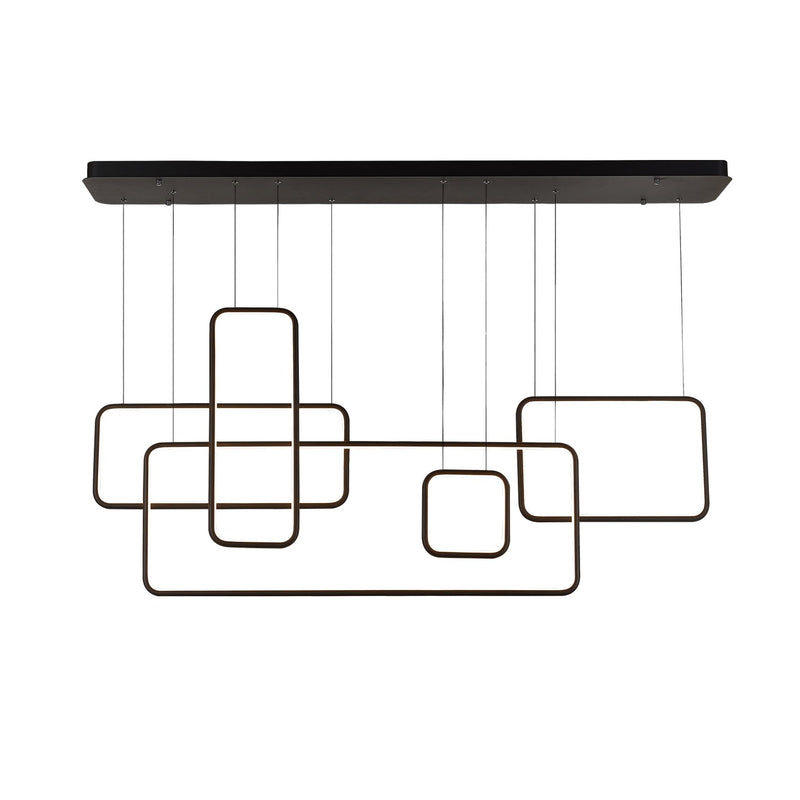 Modern Chandelier Light LED Rectangular Suspension