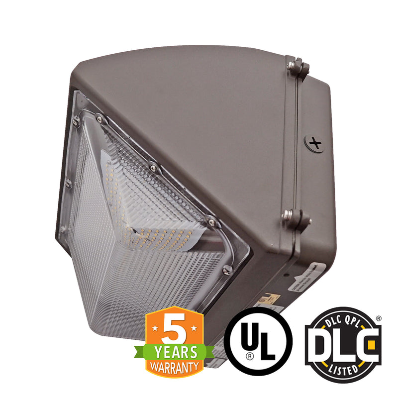 120W LED Wall Pack Light - Semi Cutoff - Forward Throw - DLC Listed - Green Light Depot