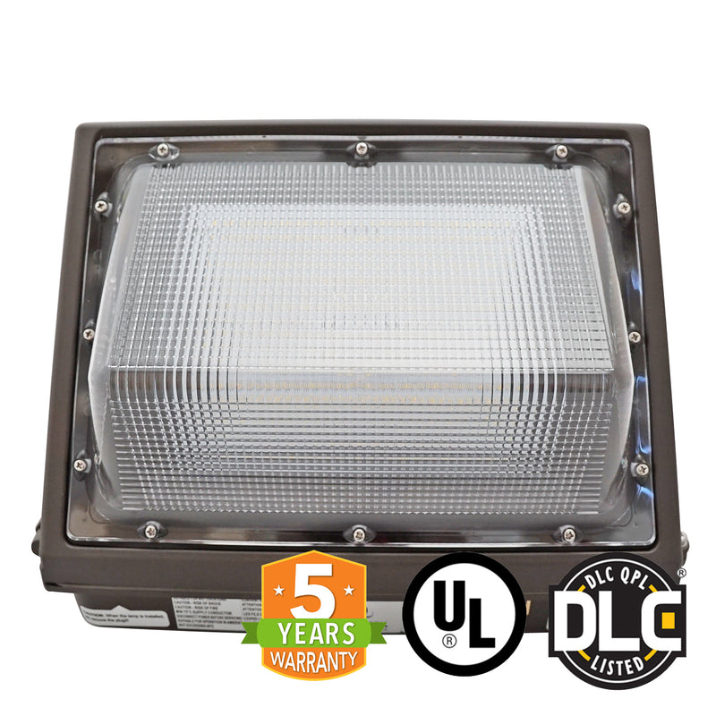 55W LED Wall Pack Light - Semi-Cutoff - Forward Throw - DLC Listed - Green Light Depot