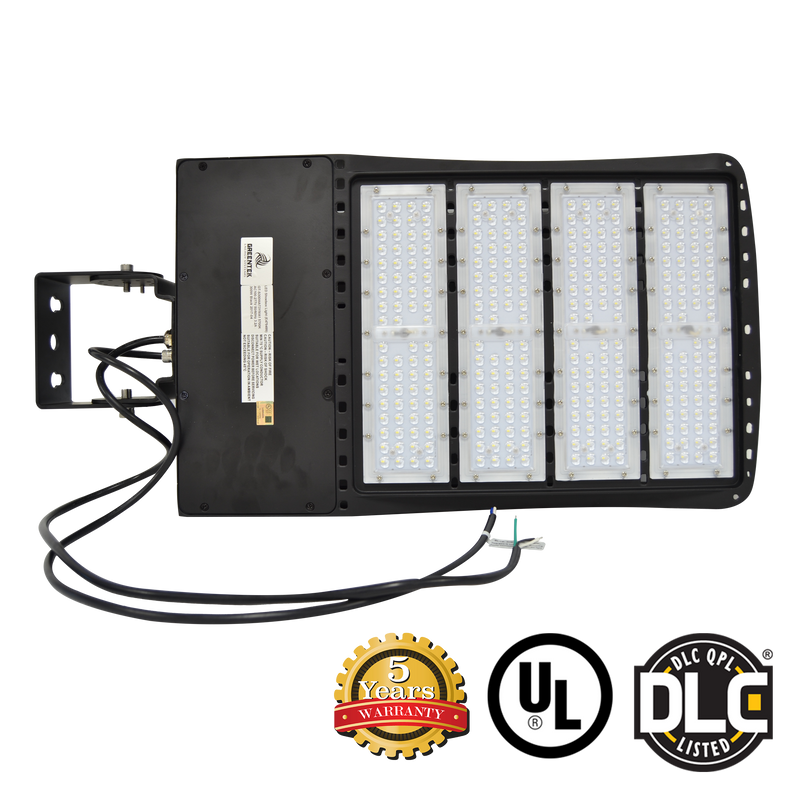 LED Flood Light - 240W - Outdoor LED Luminaire Yoke Mount - DLC Listed - 5 Year Warranty - 5700K - Green Light Depot