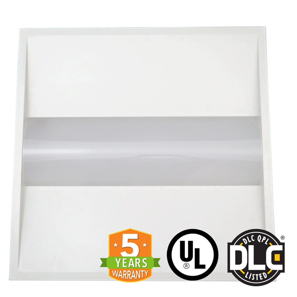 2x2 LED Troffer - 30W - Dimmable - Center Baskets Fixture - (UL + DLC) *Buy By The Box Promo* - Green Light Depot