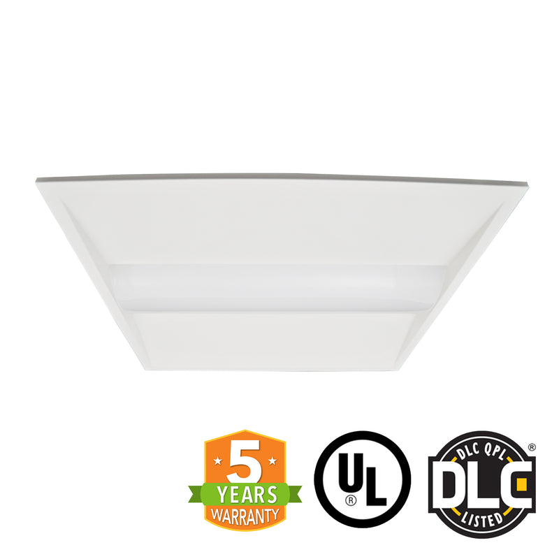 2x2 LED Troffer - 40W - Dimmable - Center Baskets Fixture - (UL + DLC) *Buy By The Box Promo*