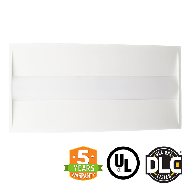 2x4 LED Troffer - 40W - Dimmable - Center Baskets Fixture - (UL + DLC) *Buy By The Box Promo* - Green Light Depot