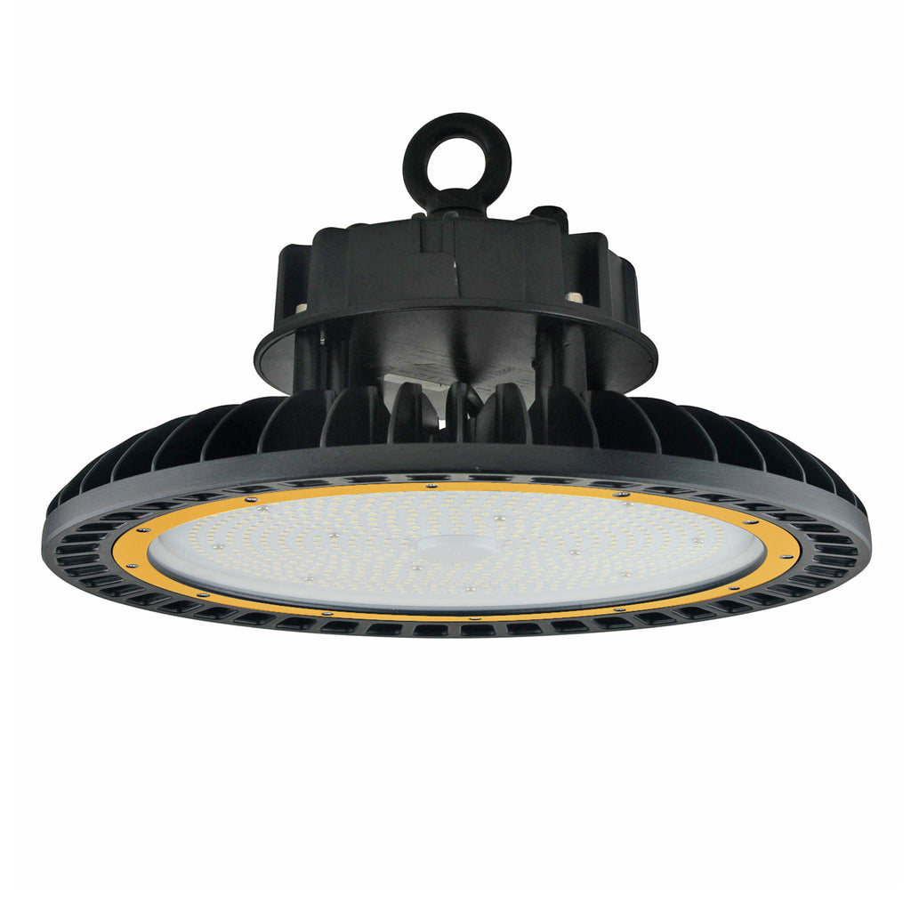 LED UFO High Bay - 150W - Hook Mount - Tempered Glass - (UL+DLC) - Green Light Depot