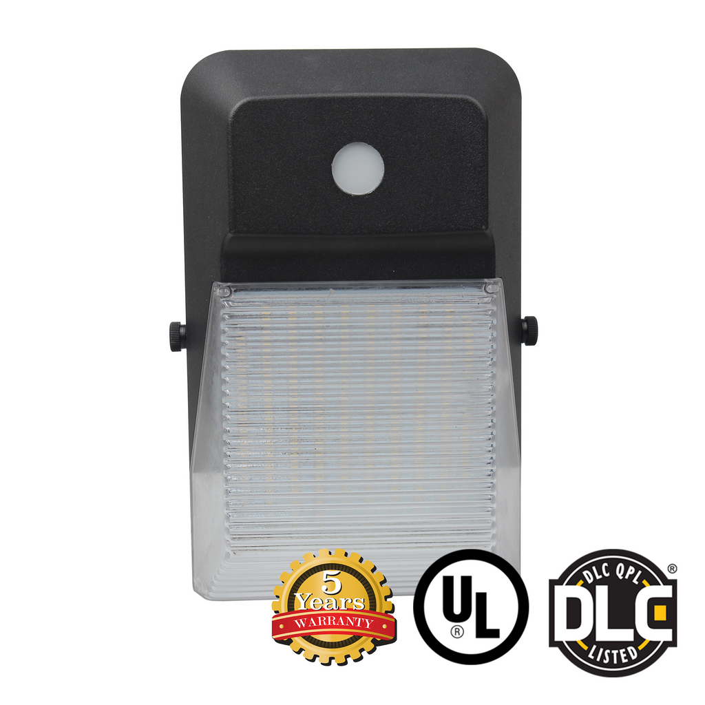20W Mini LED Wall Pack Light - (With Photocell) - (UL + DLC) - Green Light Depot