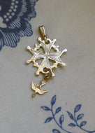 Small Huguenot Cross Pendant