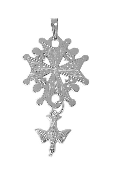 Large Huguenot Cross Pendant