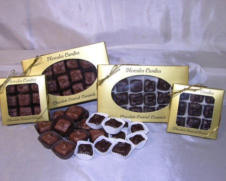 large box chocolate covered caramels