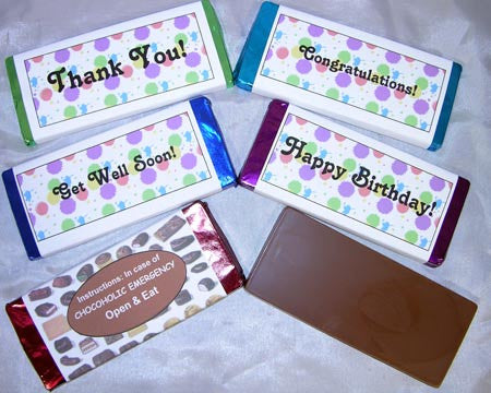 Message candy bar large