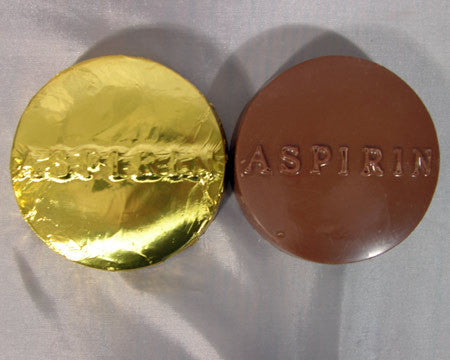 large milk chocolate aspirin