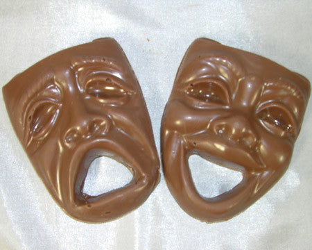 milk chocolate theater masks comedy tragedy