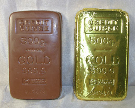 milk chocolate foiled gold bar