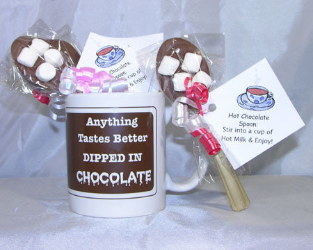 milk chocolate hot cocoa spoons