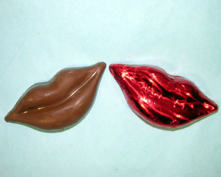 small milk chocolate lips