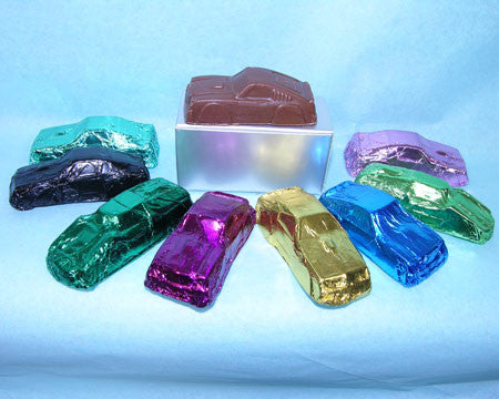 foiled milk chocolate toy cars