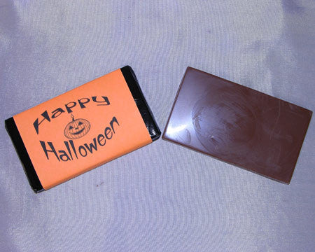 milk or dark chocolate happy halloween candy bar