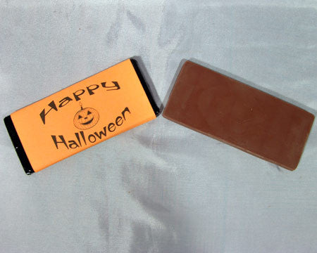 large chocolate happy halloween candy bar