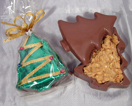 milk chocolate peanut butter filled Christmas tree