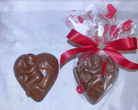 Solid Chocolate Cupid Heart