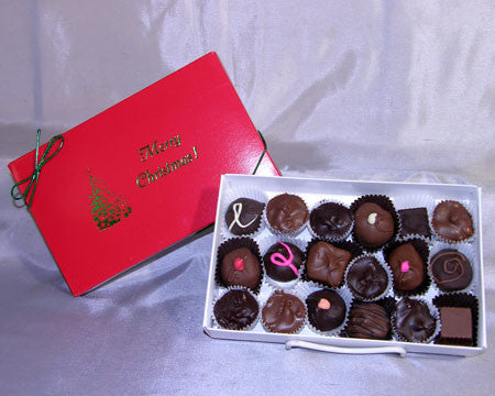 Merry Christmas half LB assorted chocolates