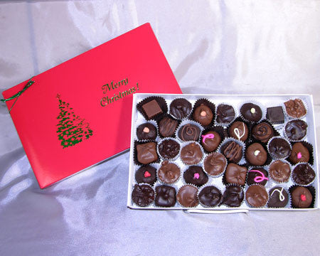 Merry Christmas 2 LB assorted chocolates